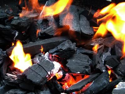 فحم الخشب المقطوع